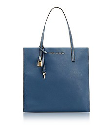 Vintage Blue Leather The Grind Tote Bag - Marc Jacobs