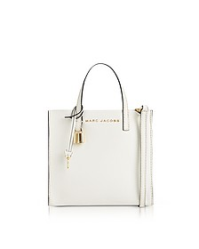 White Glow Leather The Mini Grind Tote Bag - Marc Jacobs