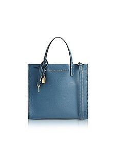 Vintage Blue Leather The Mini Grind Tote Bag - Marc Jacobs