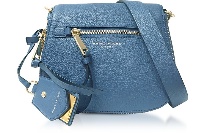 Recruit Small Saddle Bag in Pelle Vintage Blu Marc Jacobs RnyBERAdL