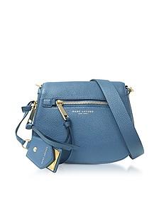 Recruit Vintage Blue Leather Small Saddle Bag - Marc Jacobs