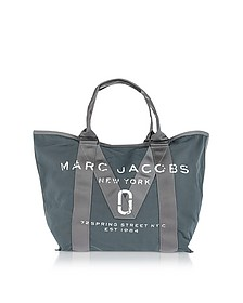 New Logo Graphite Cotton Tote - Marc Jacobs