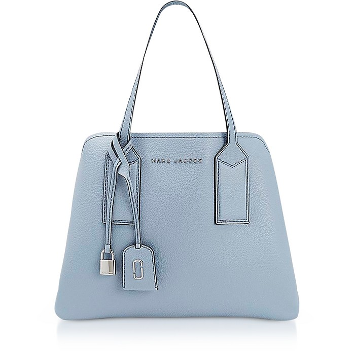 Marc Jacobs Light Blue The Editor Leather Tote Bag at FORZIERI UK 76f9625e1c556
