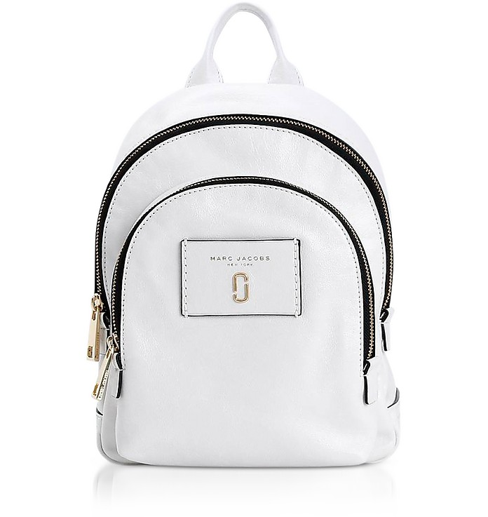 Marc Jacobs White Glossy Leather Mini Double Backpack at FORZIERI Canada a36c058829a6e