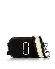 Black Leather Pavè Chain Snapshot Small Camera Bag - Marc Jacobs