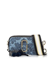 Blue Damask Canvas Snapshot Small Camera Bag - Marc Jacobs