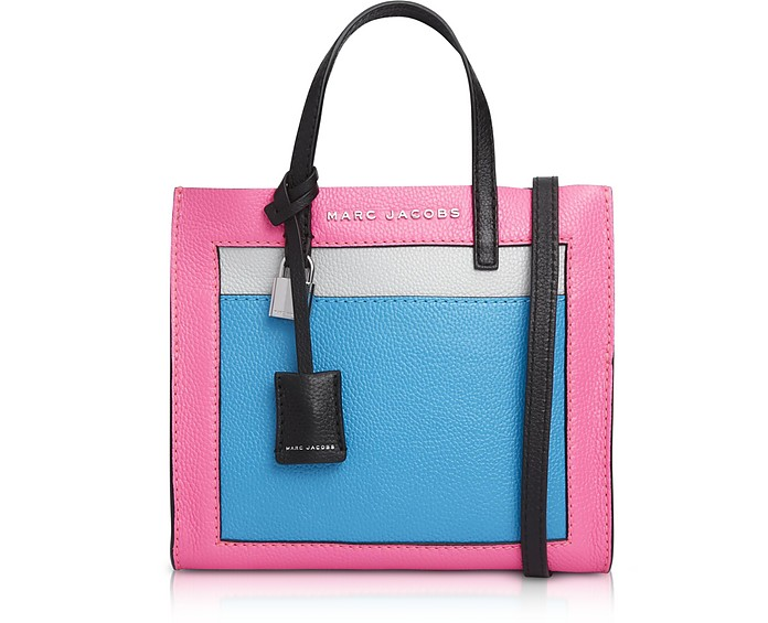 Grainy Leather The Mini Grind Colorblocked Tote Bag - Marc Jacobs