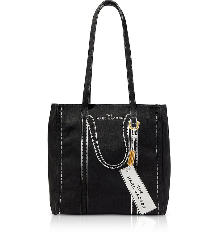 The Trompe L'oeil Tag Cotton & Linen Tote Bag - Marc Jacobs