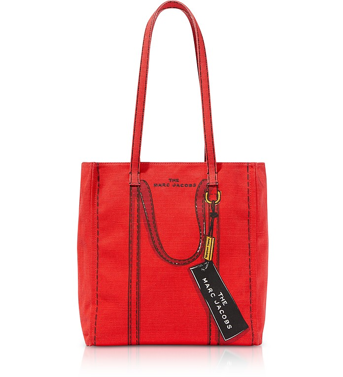 Cotton & Linen The Trompe L'oeil Tag Tote Bag 27 - Marc Jacobs