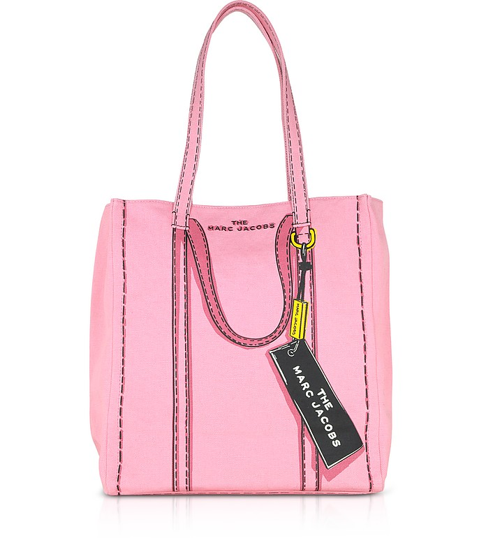 Cotton & Linen The Trompe L'oeil Tag Tote 31 - Marc Jacobs