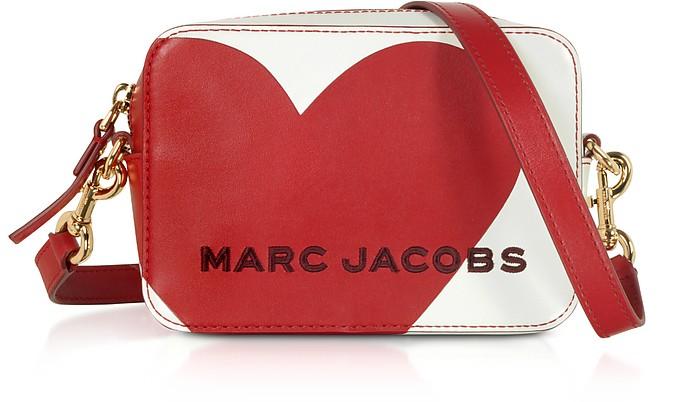 The Box Heart Intarsia Cotton Leather Crossbody Bag - Marc Jacobs