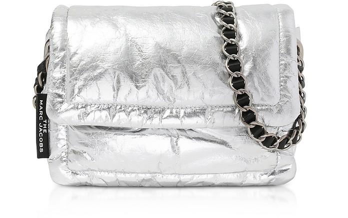 The Metallic Pillow Borsa in Pelle Platino - Marc Jacobs