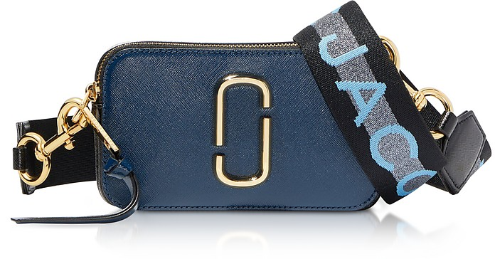 The Logo Strap Snapshot Small Saffiano Leather Camera Bag - Marc Jacobs