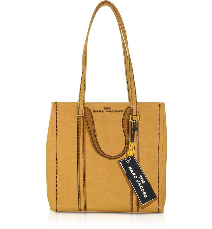 The Trompe L'oeil Tag Cotton & Linen Tote Bag - Marc Jacobs