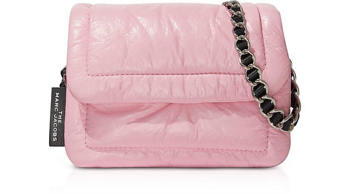 The Mini Pillow Sac à Bandoulière en Cuir Rose Poudré