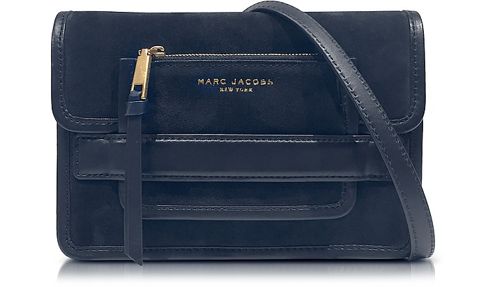 906b7f21e02d Madison Midnight Blue Suede   Leather Medium Shoulder Bag - Marc Jacobs