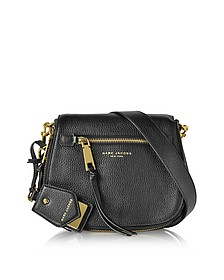 Recruit Black Leather Small Saddle Bag - Marc Jacobs