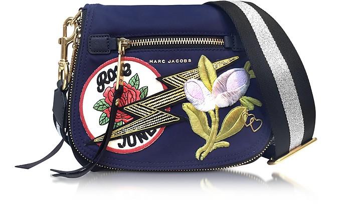 6bf523dbd825 Marc Jacobs Navy Multi Nylon Patchwork Small Nomad Shoulder Bag at ...