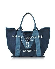 Denim Blue New Logo Tote Bag - Marc Jacobs