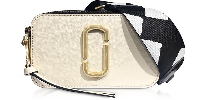 Marc Jacobs Cloud White Color Block Snapshot Camera Bag at FORZIERI 54ddf20684e37