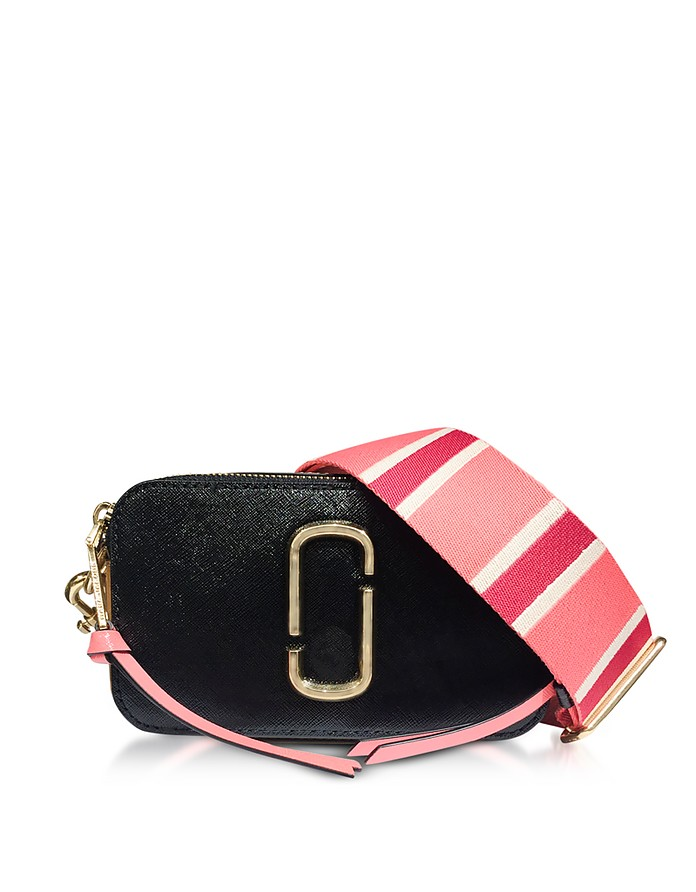 Snapshot Camera Bag in Pelle Nera con Logo JJ Marc Jacobs SYFRZz