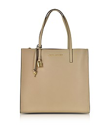 Light Slate Leather The Grind Tote Bag - Marc Jacobs