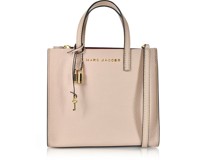Rose Leather The Mini Grind Tote Bag - Marc Jacobs