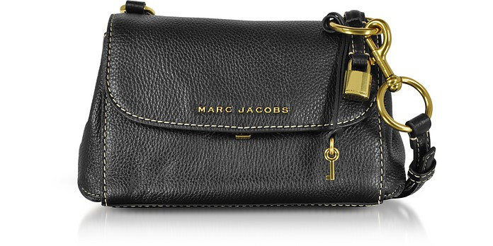 108df614e51d Marc Jacobs Black Grainy Leather Mini Boho Grind Shoulder Bag at ...
