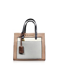 The Grind Colorblocked Leather Tote Bag - Marc Jacobs