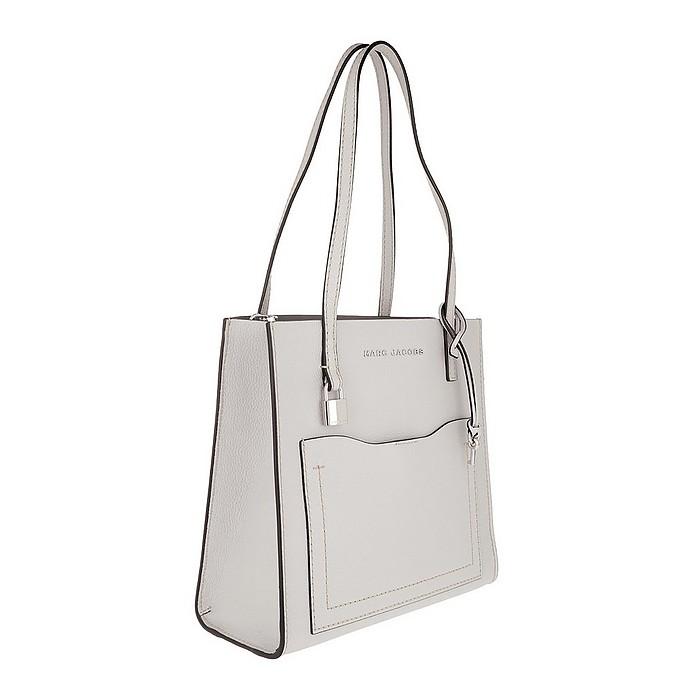 081d4109f8cc Medium Grind T Pocket Tote Bag Leather Ghost Grey