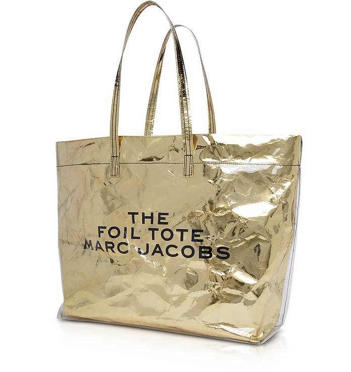 f952ce51b498 Marc Jacobs Gold The Foil Tote Bag at FORZIERI
