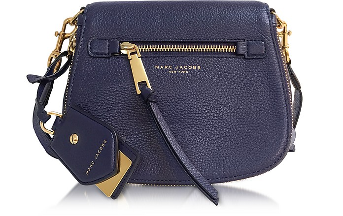 0af4b436debc6 Marc Jacobs Recruit Midnight Blue Leather Small Saddle Bag at ...