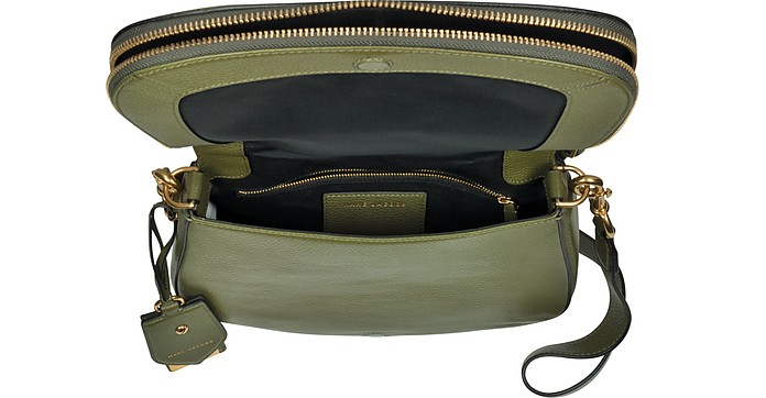 cb77859b1d06b Marc Jacobs Army Green Recruit Leather Saddle Bag at FORZIERI Australia