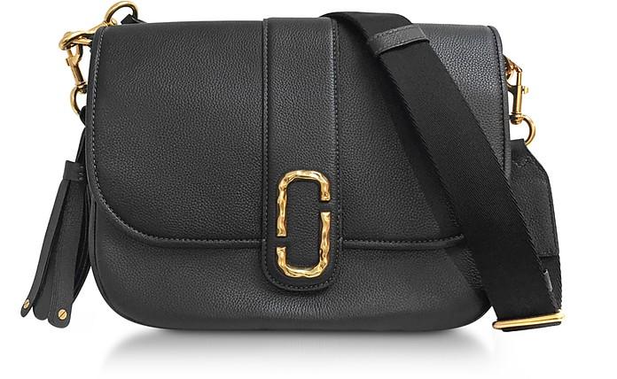 Courier Black Leather Shoulder Bag - Marc Jacobs
