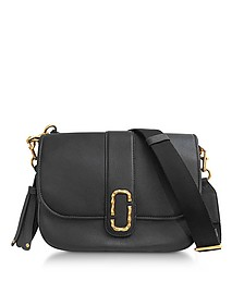 Courier Black Leather Shoulder Bag - Marc Jacobs