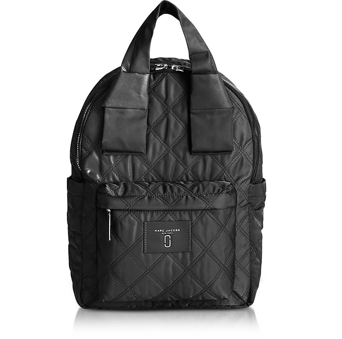 9d642cefaabfe Marc Jacobs Black Nylon Knot Backpack at FORZIERI