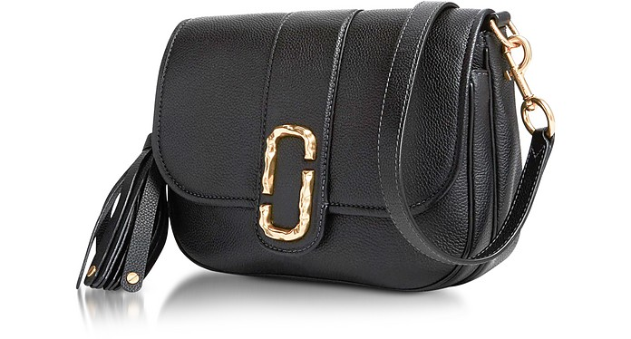 Black Pebbled Leather Interlock Small Courier Crossbody Bag - Marc Jacobs.   456.00 Actual transaction amount 1a397d0e8a031