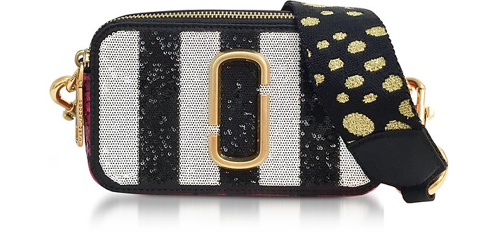 868c2a89493d Marc Jacobs Sequin Striped Snapshot Small Camera Bag at FORZIERI