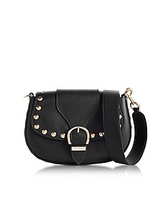 Black Studded Navigator Saddle Bag - Marc Jacobs