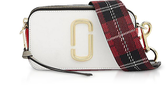 cbbc8aa3bc4 Marc Jacobs White Saffiano Leather Snapshot Camera Bag at FORZIERI ...