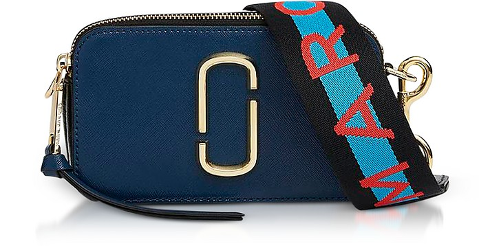 Marc Jacobs Sea Blue Logo Strap Snapshot Camera Bag at FORZIERI 3d12b670494b4