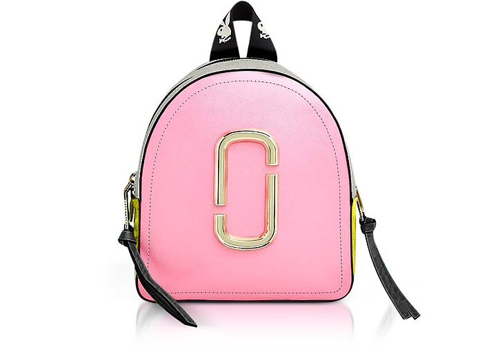 Marc Jacobs Baby Pink The Pack Shot Backpack at FORZIERI b4a13b8e69432