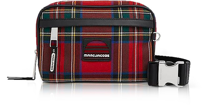 Red Tartan Sport Belt Bag - Marc Jacobs