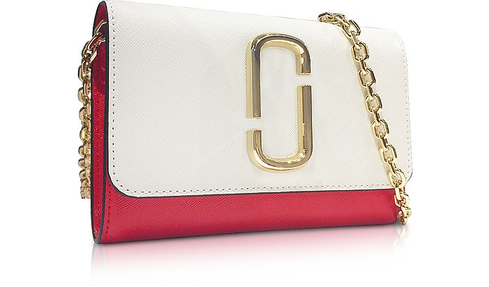 19a0ed558d Marc Jacobs White Snapshot Chain Wallet Clutch at FORZIERI
