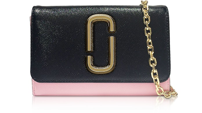 0d52b118c04 Marc Jacobs black / pink Snapshot Chain Wallet Clutch at FORZIERI