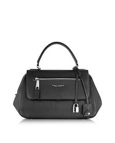 Neo Incognito Black Leather Satchel Bag