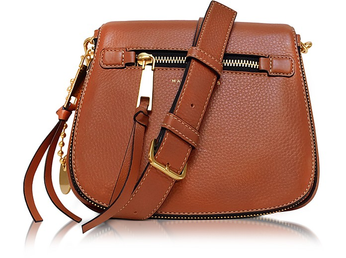 6377d242703 Marc Jacobs Cognac Recruit Leather Small Saddle Bag at FORZIERI