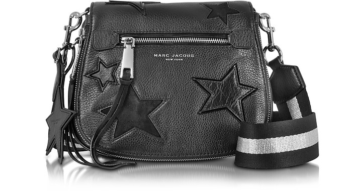 dde4ebdcf12f Marc Jacobs Star Patchwork Black Leather Small Saddle Bag at FORZIERI