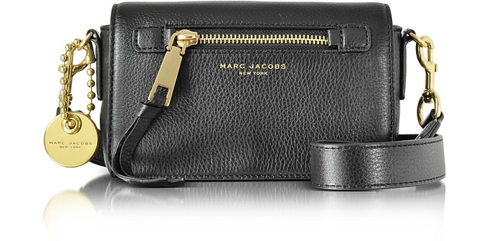 Marc Jacobs Recruit Black Leather Crossbody Bag at FORZIERI cbf8648abb2d4