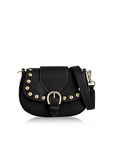 Black Leather Small Studded Navigator Shoulder Bag - Marc Jacobs